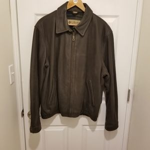 Columbia Vintage Men's Brown Leather Jacket Sz L